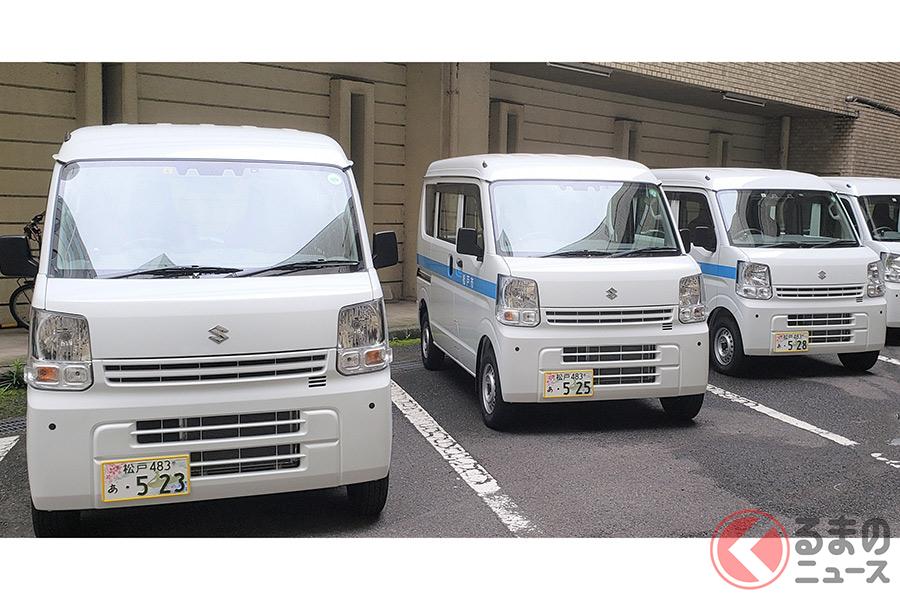 「松戸」の地方版図柄入りナンバーが装着された車両(画像提供:松戸市役所)