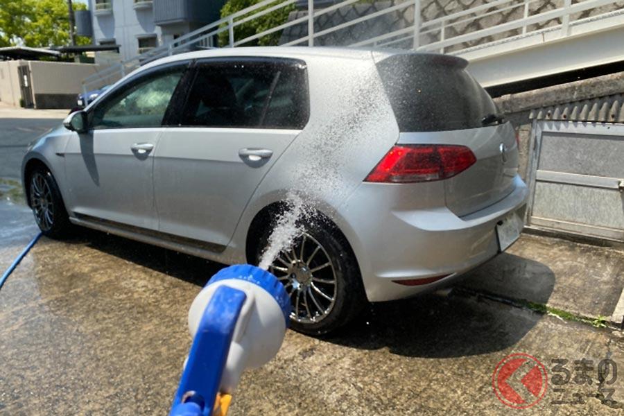 晴天時の洗車はクルマのボディを傷める原因に