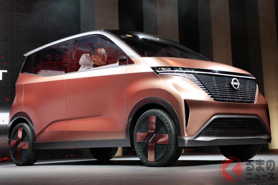 東京モーターショー2019で日産が初公開した新型軽EV「IMk」