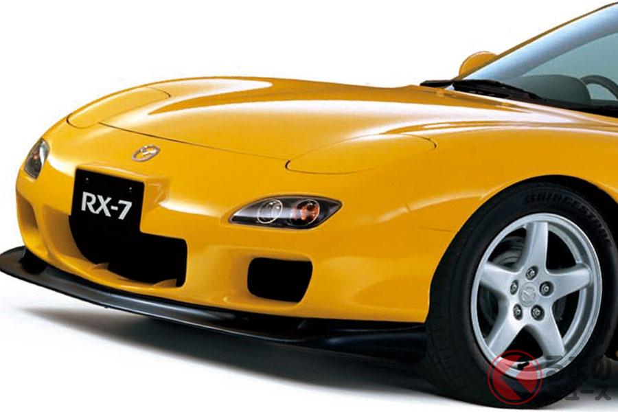 低くワイドなスタイルのマツダ「RX-7」