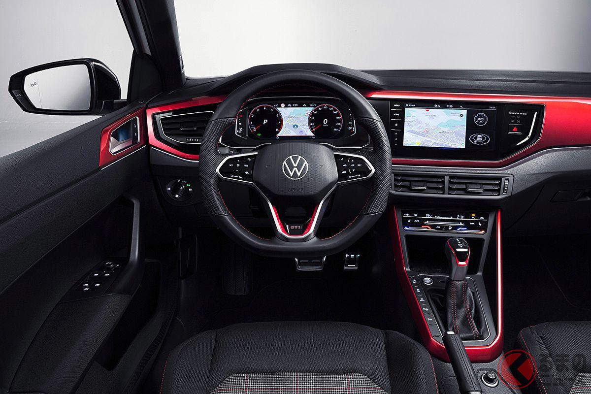 VW新型「ポロGTI」のインパネ