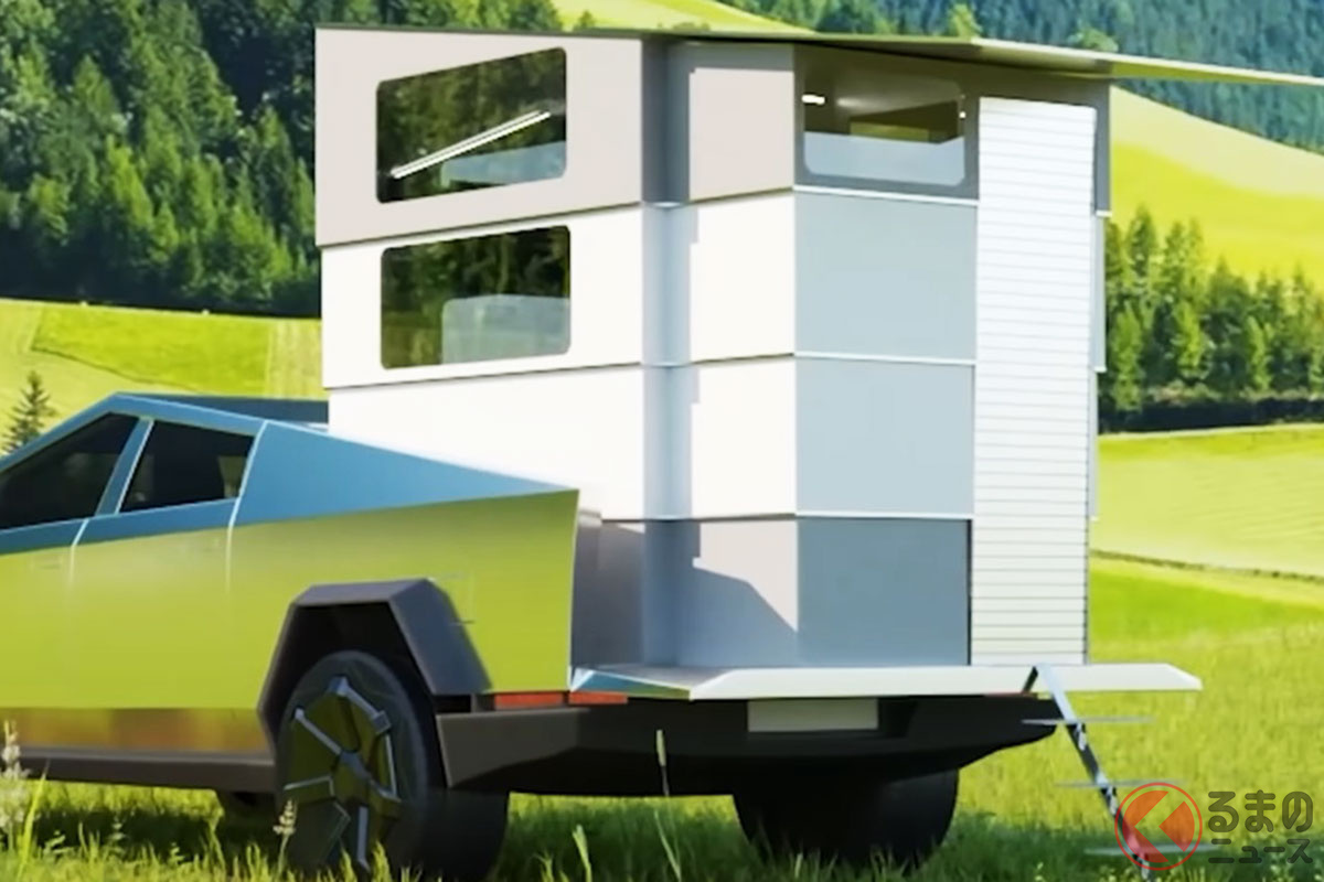「サイバーランダー」を積載したテスラ「サイバートラック」