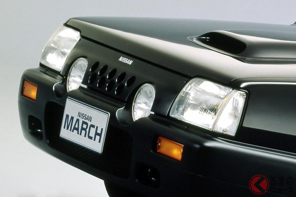 大衆車にツインチャージャーエンジンを搭載した「マーチ スーパーターボ」