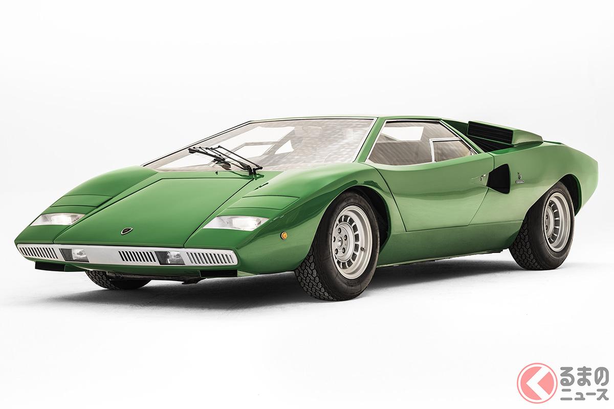 リアミッドにエンジンを縦型に搭載した最初のV12モデルは、「カウンタック」だ
