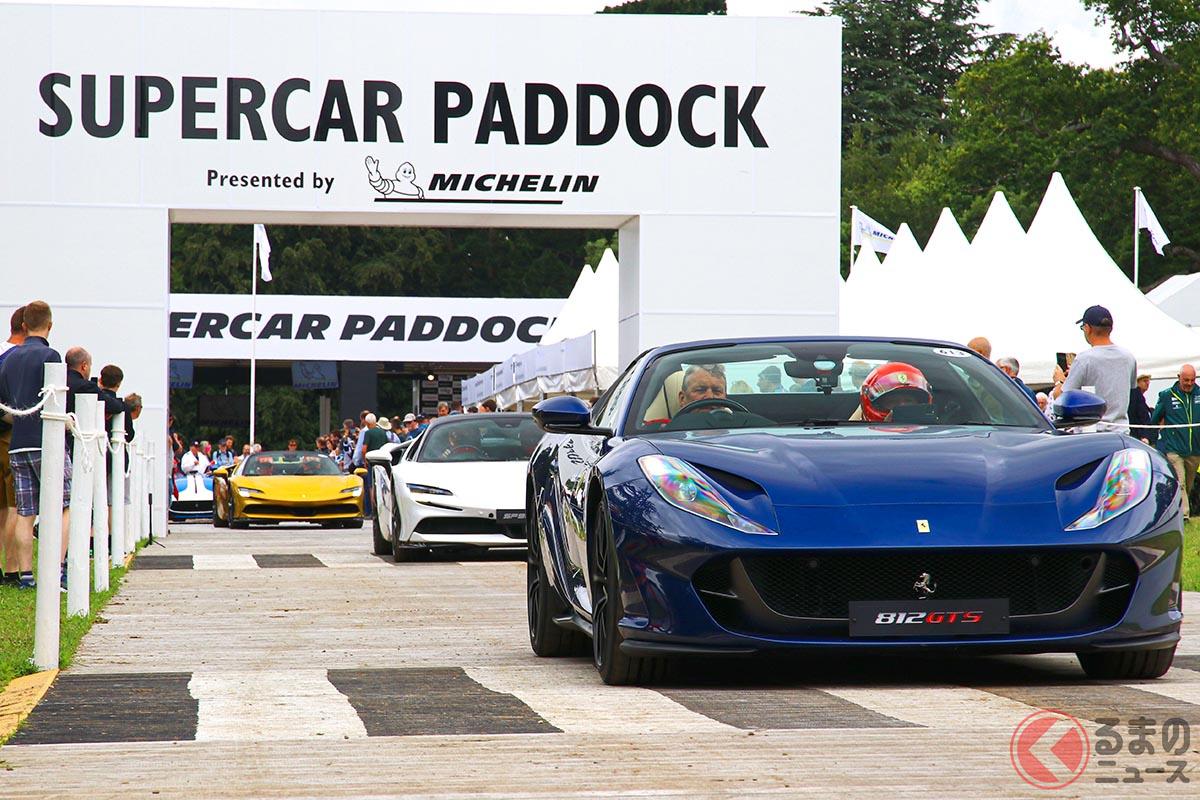 フェラーリ本社がグッドウッドに持ち込んだ車両の最高出力を総計すると、実に6290cvとなった