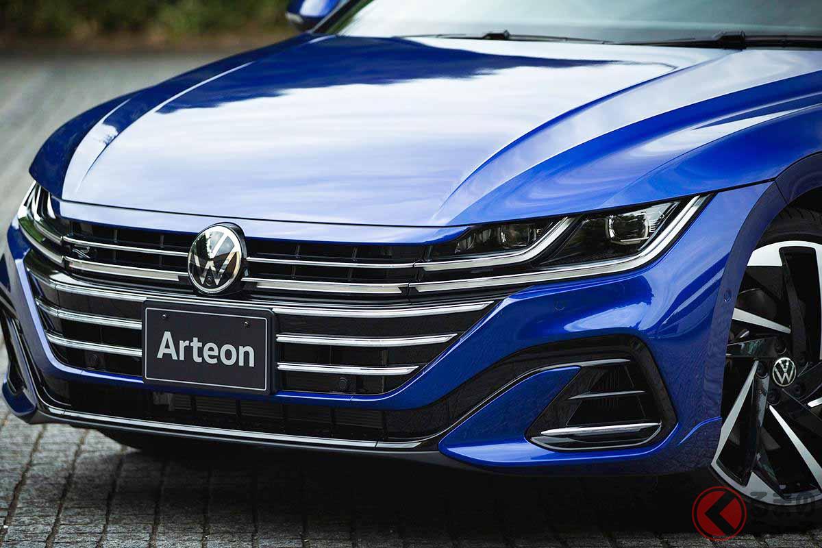 VW改良新型「アルテオン」のフロントマスク