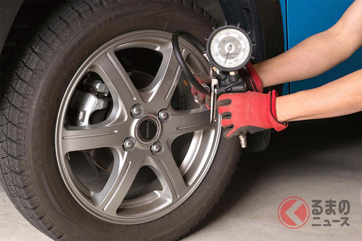 タイヤの空気圧はこまめにチェックしましょう