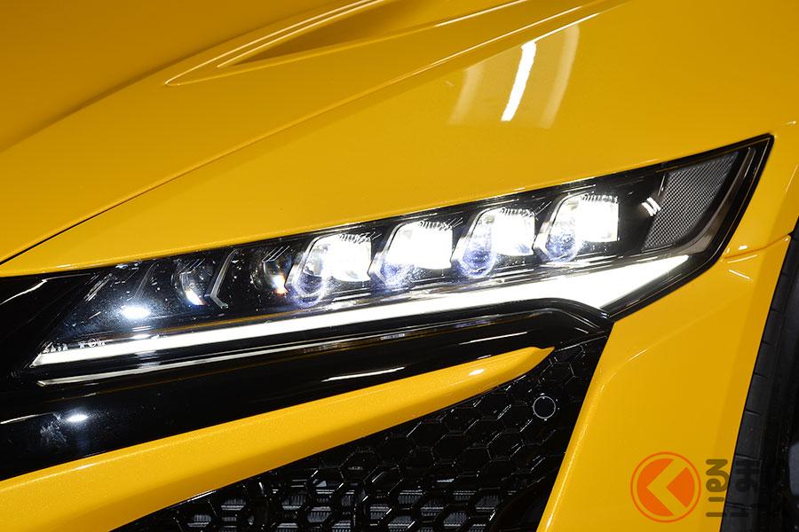 LEDヘッドライトを採用するホンダ「NSX」