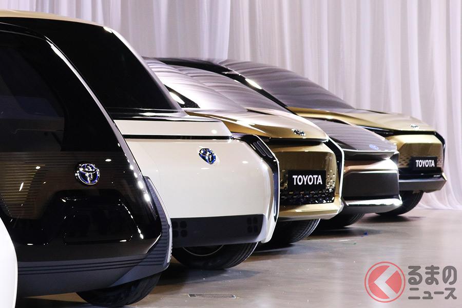 トヨタが研究を勧める全固形電池とは(写真:2019年6月7日におこなわれたトヨタの電動車説明会の様子)