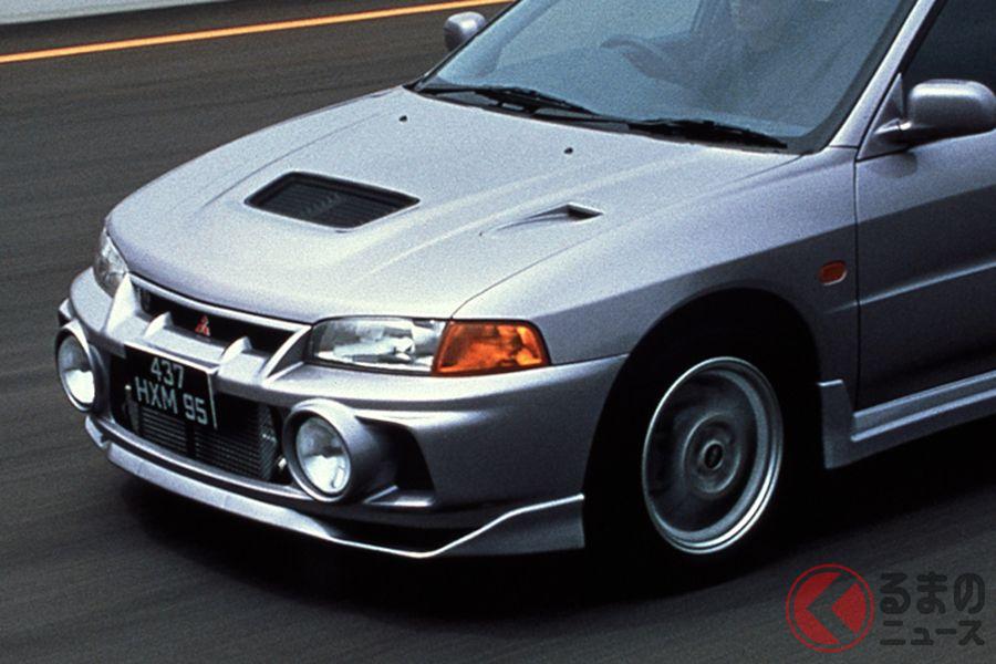 1996年に発売された三菱「ランサーGSRエボリューションIV」。当時の価格はGSRが299万8000円、RSが249万8000円だった