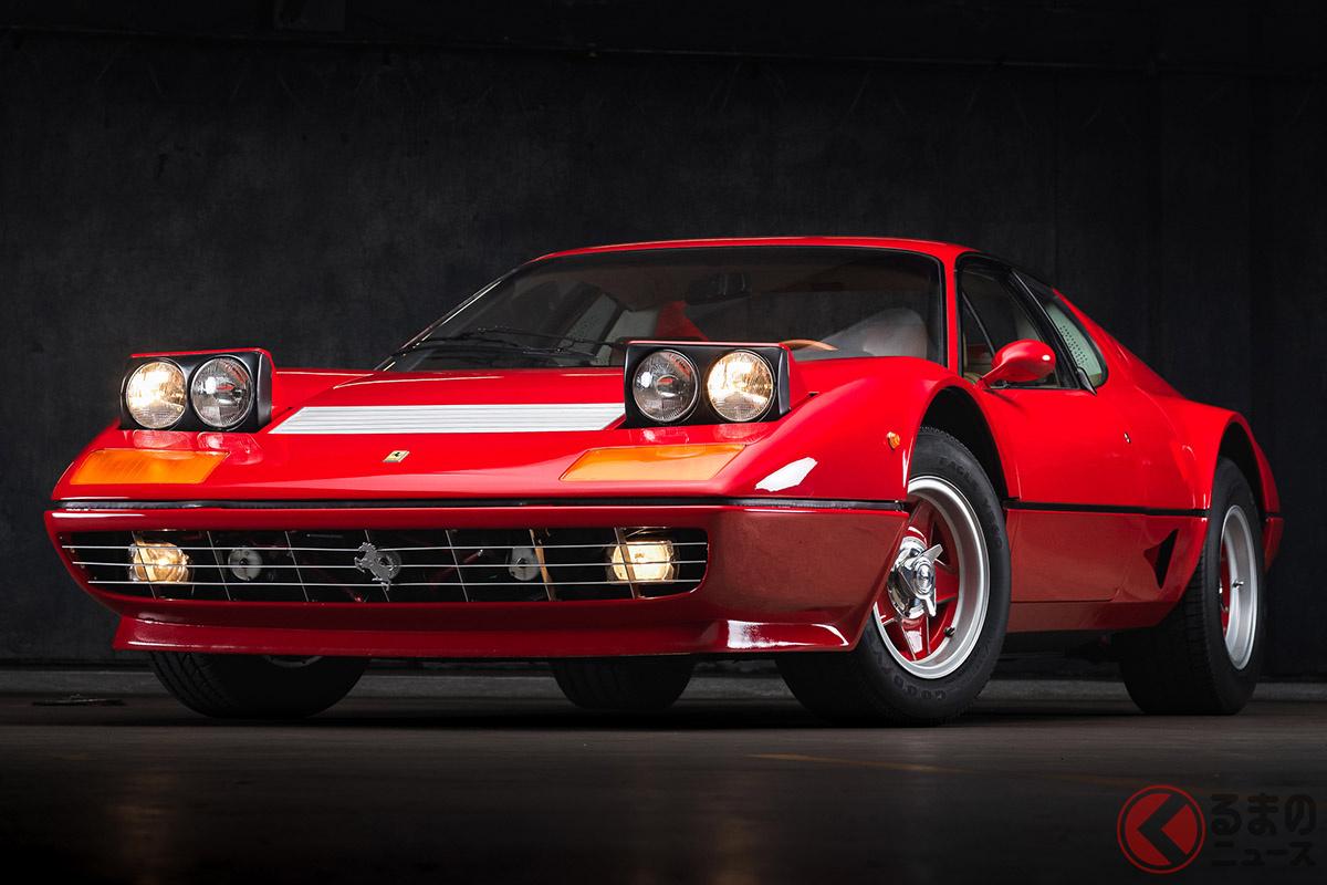 第1次スーパーカーブーム時代に、「カウンタック」と人気を二分したフェラーリ「BB」は、いま買い時なのかもしれない(C)2021 Courtesy of RM Sotheby's