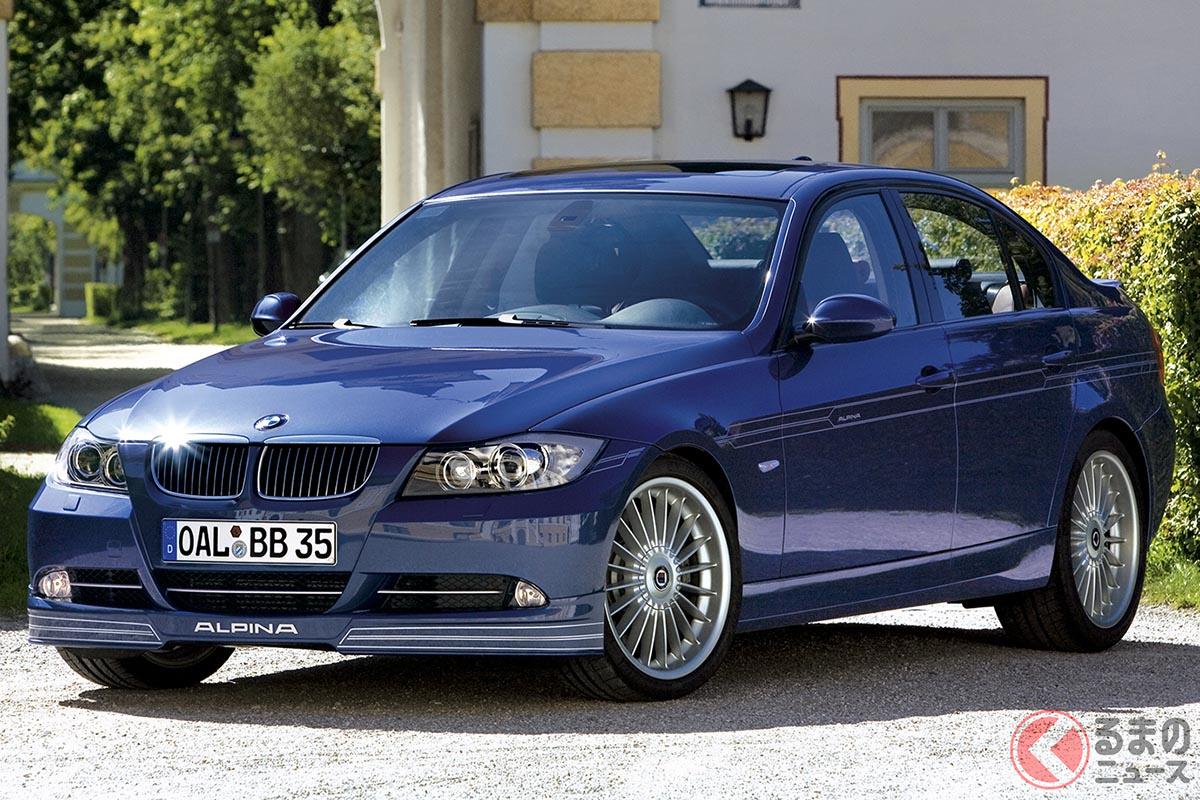 E90型の「B3」は2007年に登場。同世代の「M3」が自然吸気V8を採用するのに対して、B3は360psを誇る直6ツインターボを採用していた。太いトルクでレスポンスよくなめらかに走るというアルピナ車の特徴は、E90世代でも味わうことができ、ベーシックなB3ではベース+100Nmの500Nmを発生させていた(C)Alpina GmbH & Co. KG