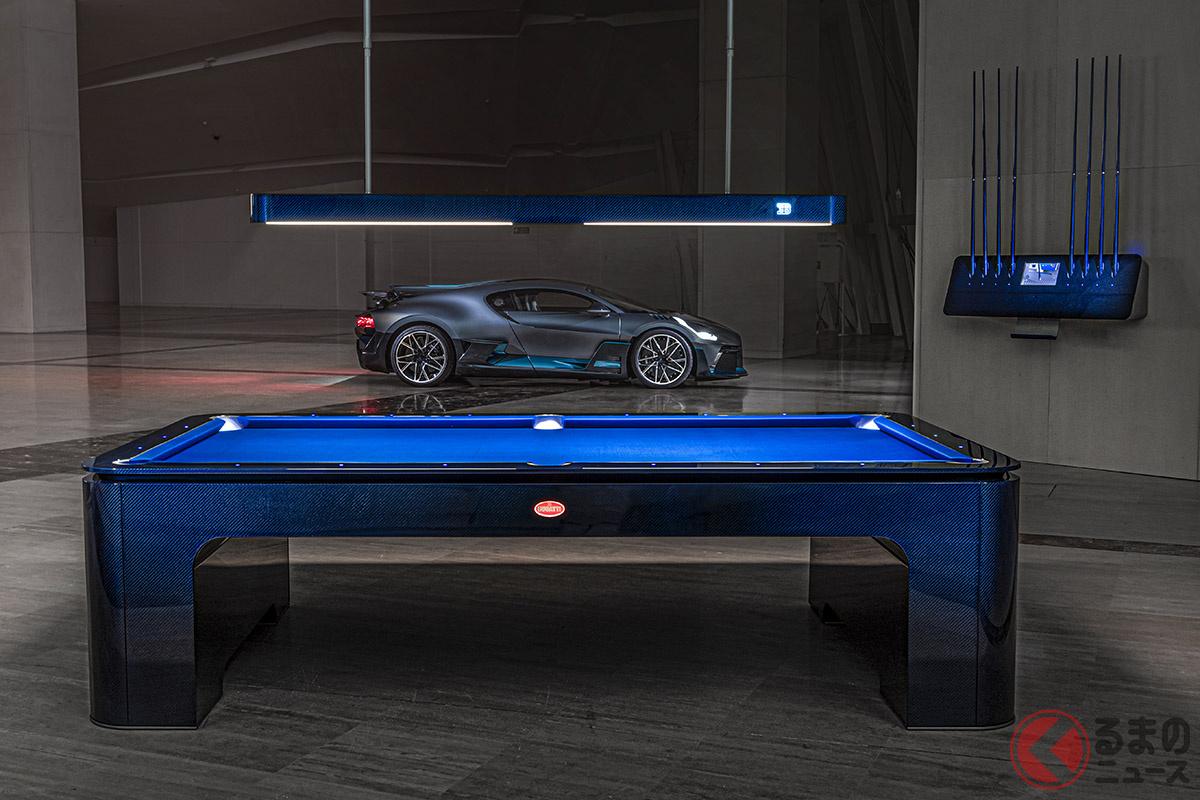 ブガッティのデザインやクオリティを反映したプールテーブルが誕生した