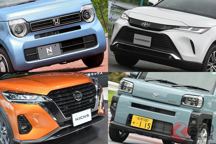 国内の新型車は軽・SUVが多くを占めている