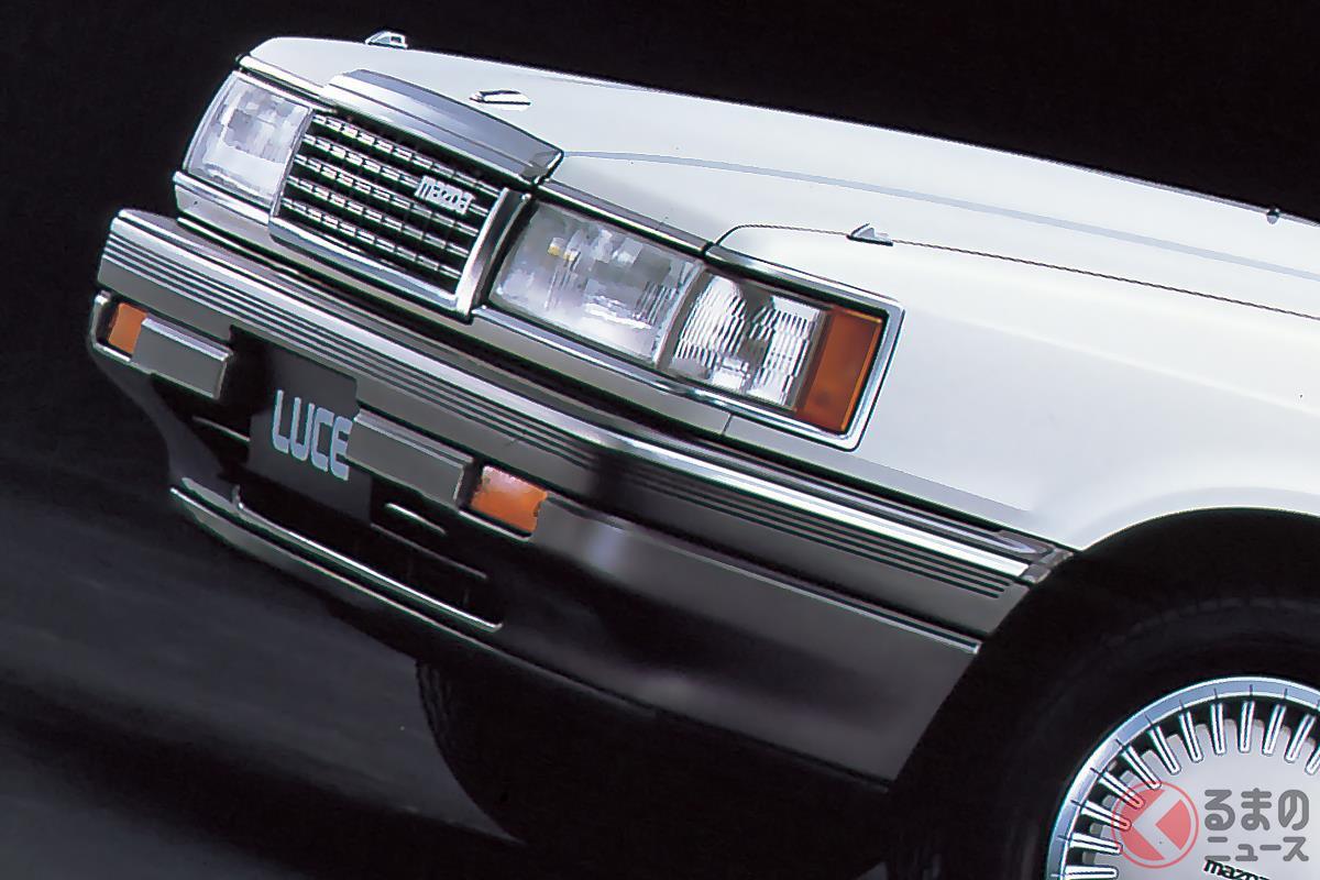 マツダ製セダンで最後のロータリーエンジン搭載車となた「ルーチェ ロータリーターボ」