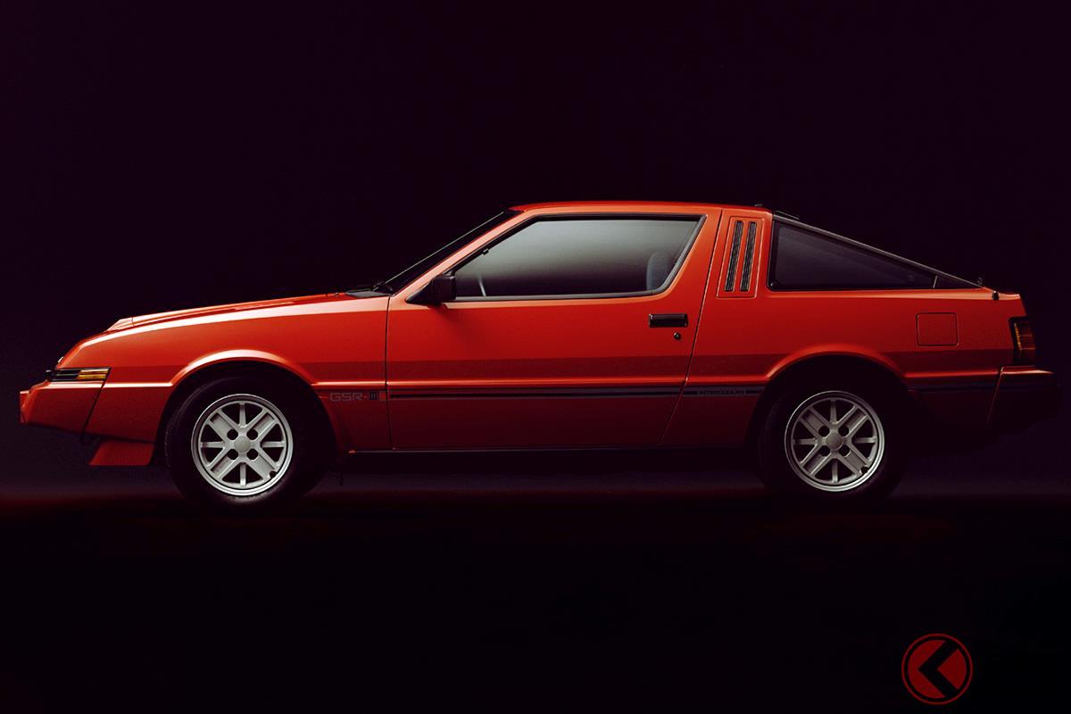 クサビ型のフェイプがいかにも1980年代のスポーツカーといった「スタリオン」