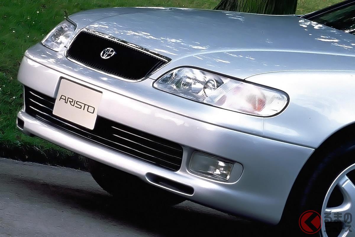 アグレッシブなデザインのボディにツインターボエンジンを搭載した初代「アリスト」