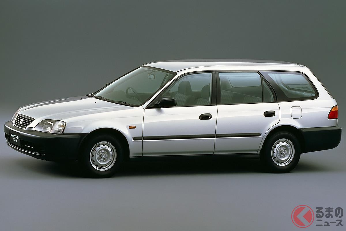 まるでスポーツカーなサスペンションを採用したライトバンの初代「パートナー」