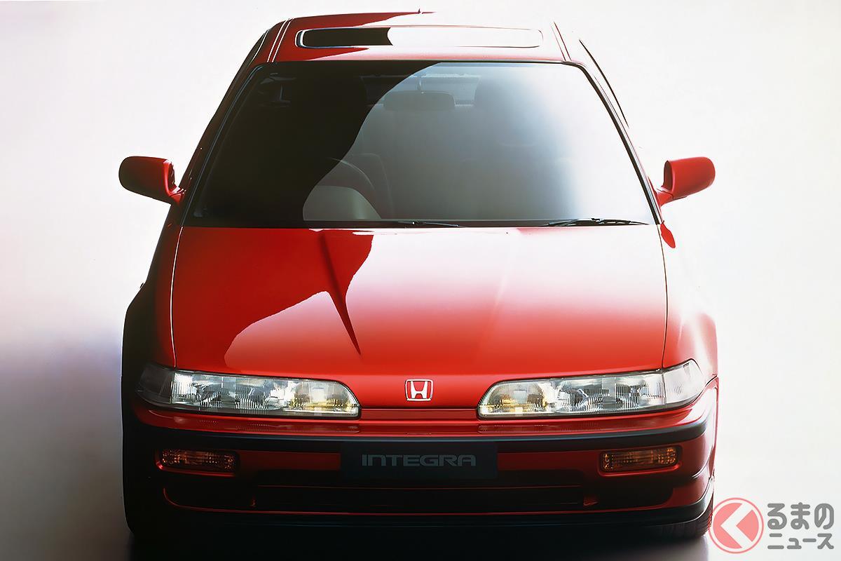 初のVTECエンジンを搭載してセンセーショナルなデビューを飾った「インテグラ」