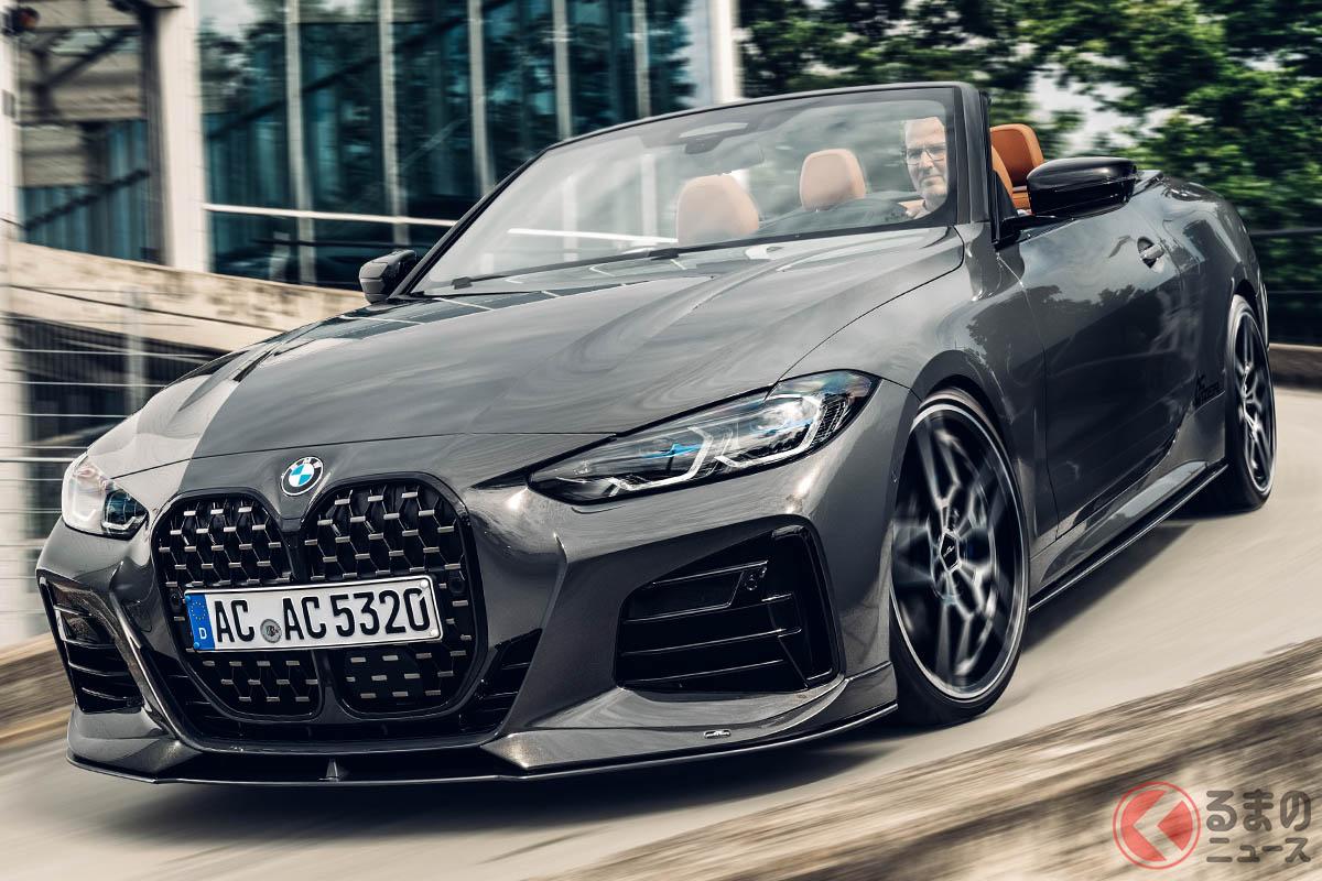 BMW「4シリーズ・カブリオレ」のオリジナルデザインのよさを活かした、ACシュニッツァーのエアロパーツ