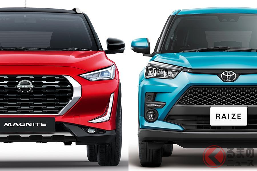 左:日産新型「マグナイト」/右:トヨタ「ライズ」