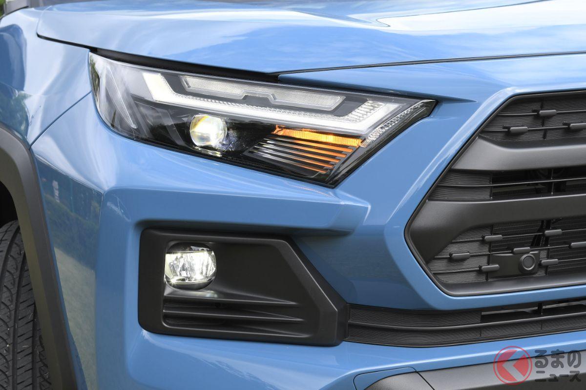 これは新色? 愛知県でお披露目されたトヨタ「RAV4 アドベンチャー(ハイブリッド車)」のプロトタイプ