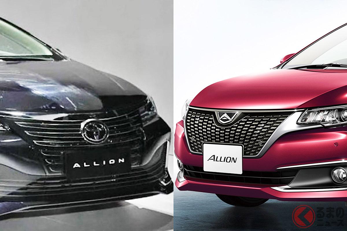 中国向けセダンとして発表されたトヨタ新型「アリオン」(写真左)と日本仕様の「アリオン」(写真右)