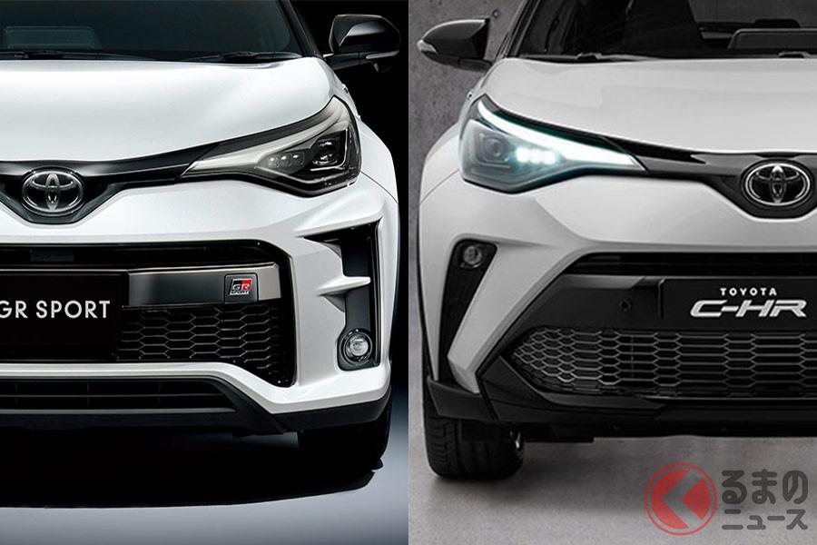 同じGRスポーツでも日本(左)と欧州(右)ではデザインが異なる