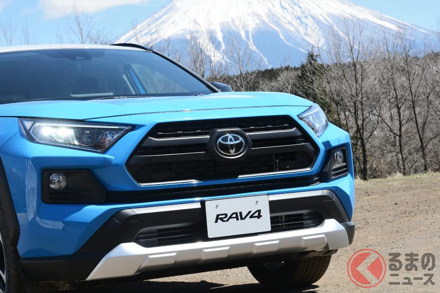 2019年に約3年ぶりの日本市場復活を果たしたRAV4。現在では、ライズ・ヤリスクロス・ハリアーなどのトヨタ内SUVに販売台数こそ負けるものの存在感は負けていない。