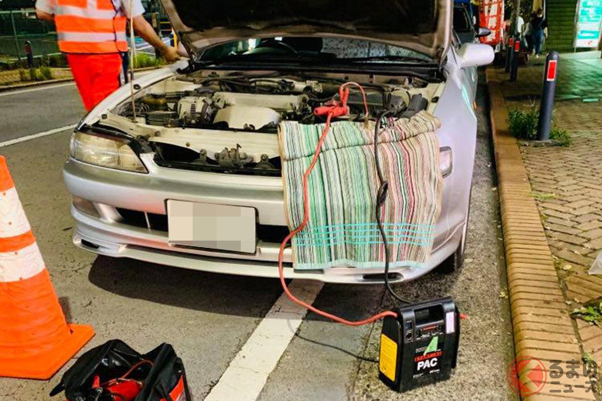 突然のバッテリー上がり…そんなとき、ロードサービスを使うことで迅速に解決する?