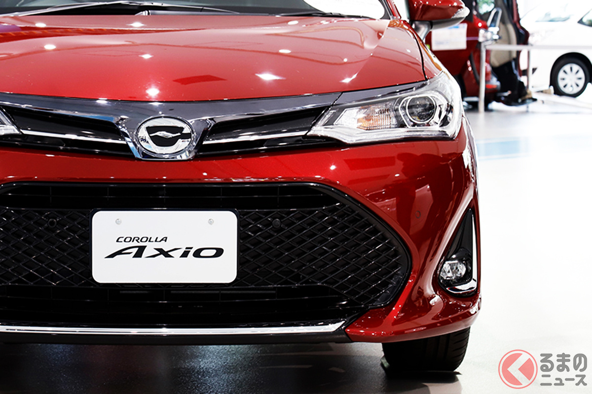 今後国産唯一の5ナンバーセダンとなるトヨタ「カローラアクシオ」