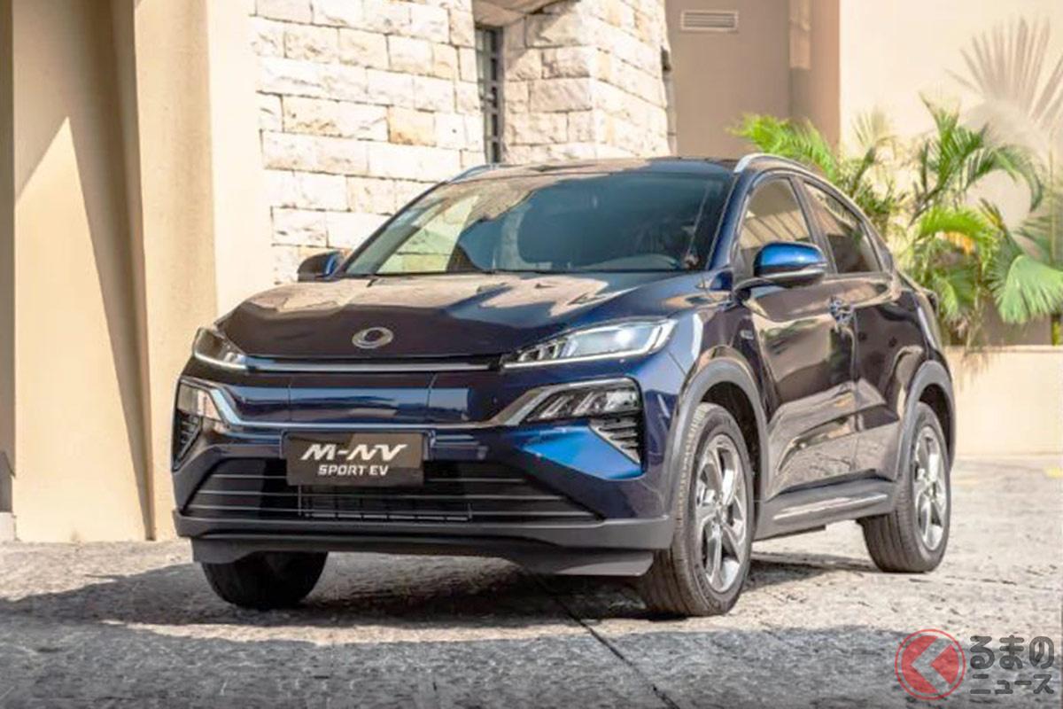 ホンダが中国で展開する合弁企業の東風ホンダが発表したSUVタイプの電気自動車「M-NV」