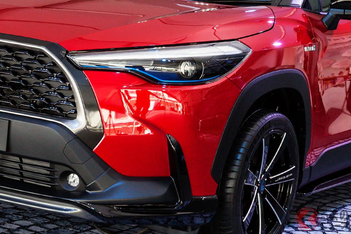 2021年1月時点では海外専売車のトヨタ「カローラクロス」。日本市場へ導入されると噂されている