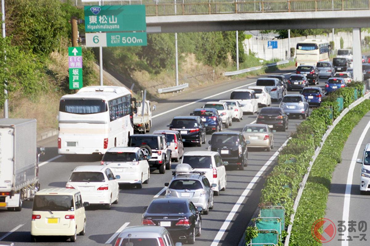 年末年始は「移動(帰省)の自粛」が各所からいわれたが、実際には多くの人が移動した結果、例年並みの渋滞が発生か。(画像はコロナ禍前の渋滞の様子)