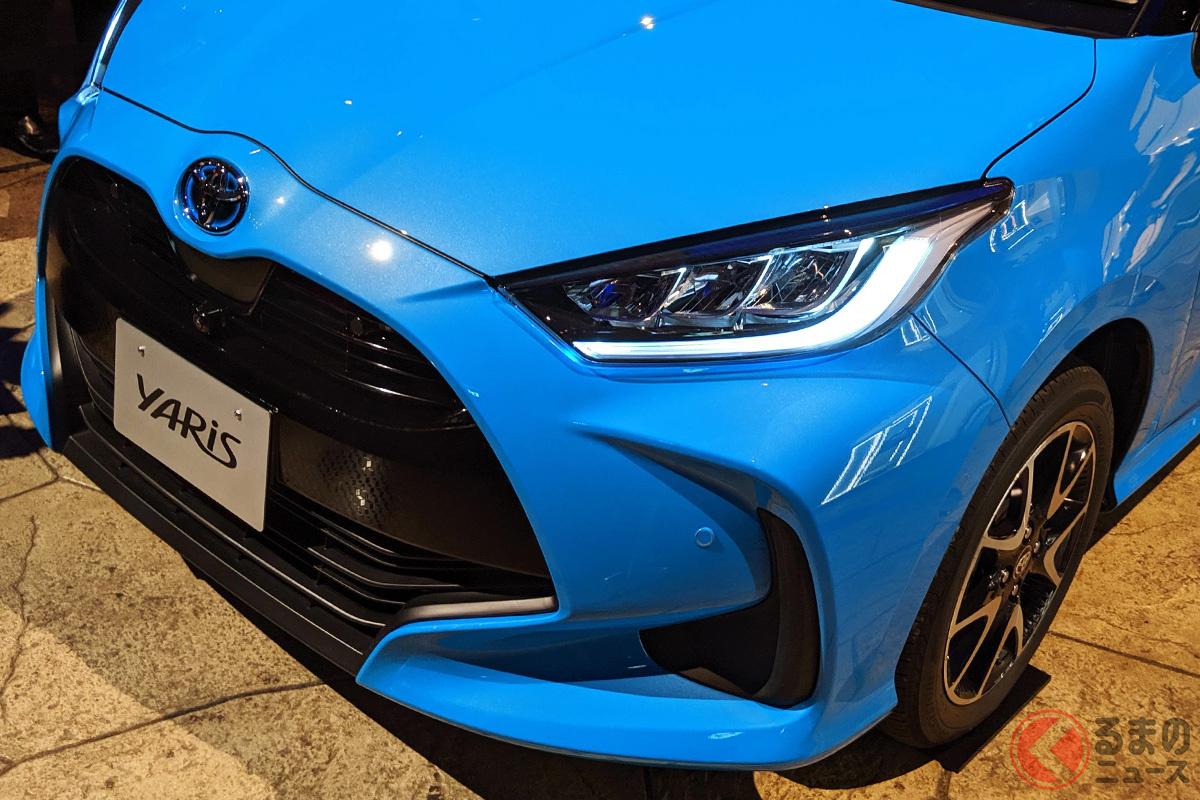 2021年1月の自販連登録車販売台数ランキングで1位となったトヨタ「ヤリス」
