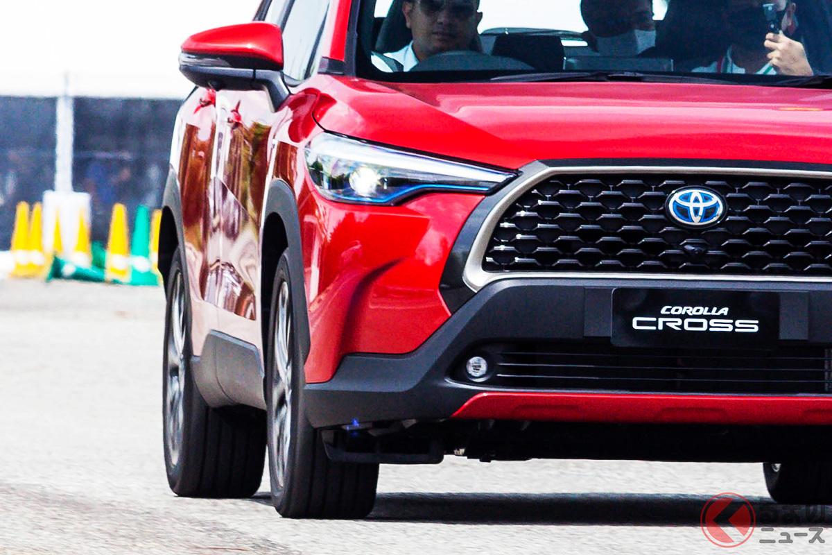 2021年2月現在は海外専売車のトヨタ「カローラクロス」