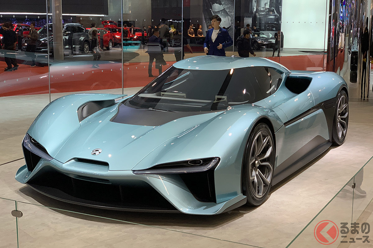 中国ブランドの電動ハイパーカーとしてはNIOの「EP9」も話題となっている。(撮影:加藤博人)