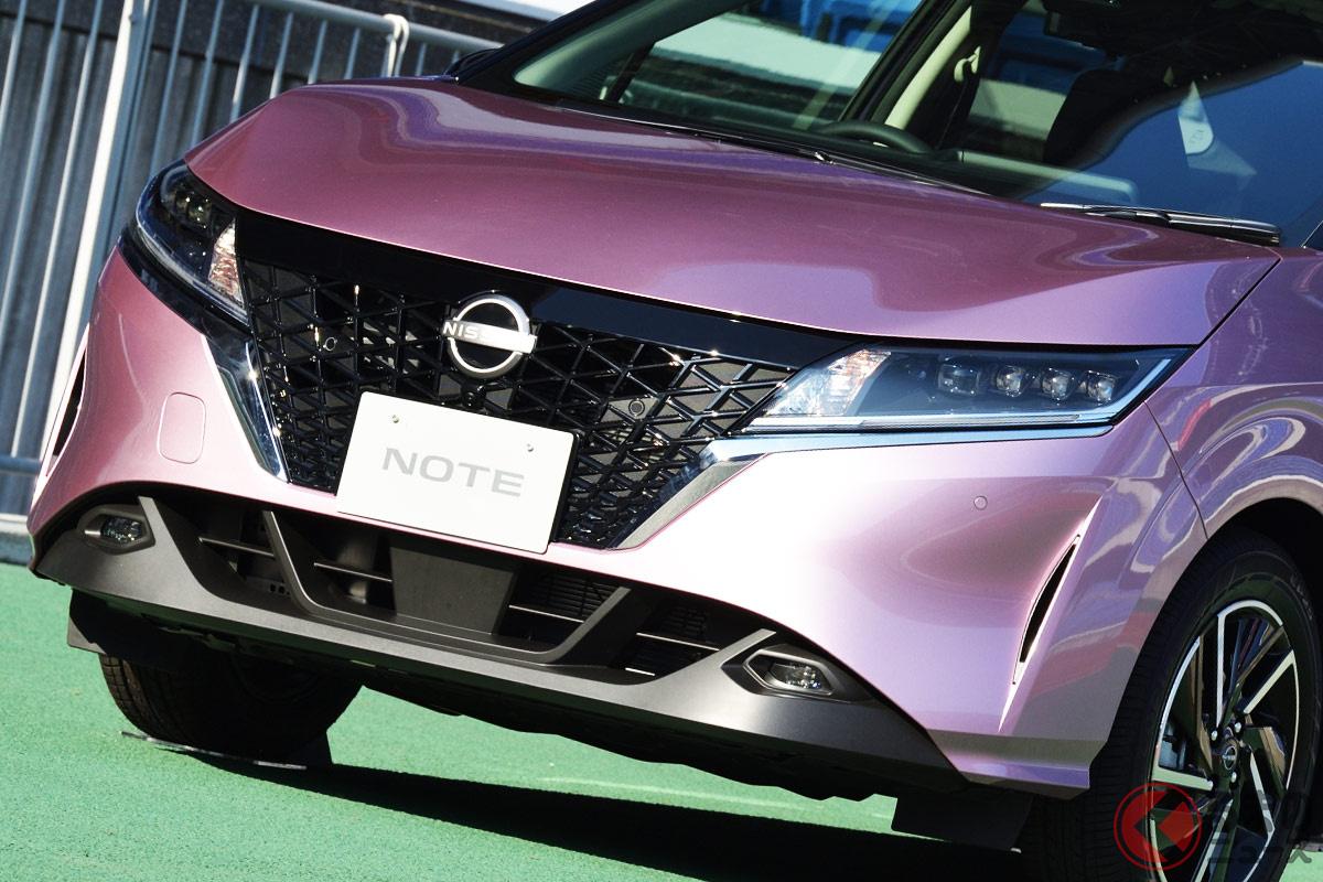第二世代e-POWERを搭載した新型「ノート」。ハイブリッド車のみとなるもその進化した乗り味に魅了されるユーザーは多い?