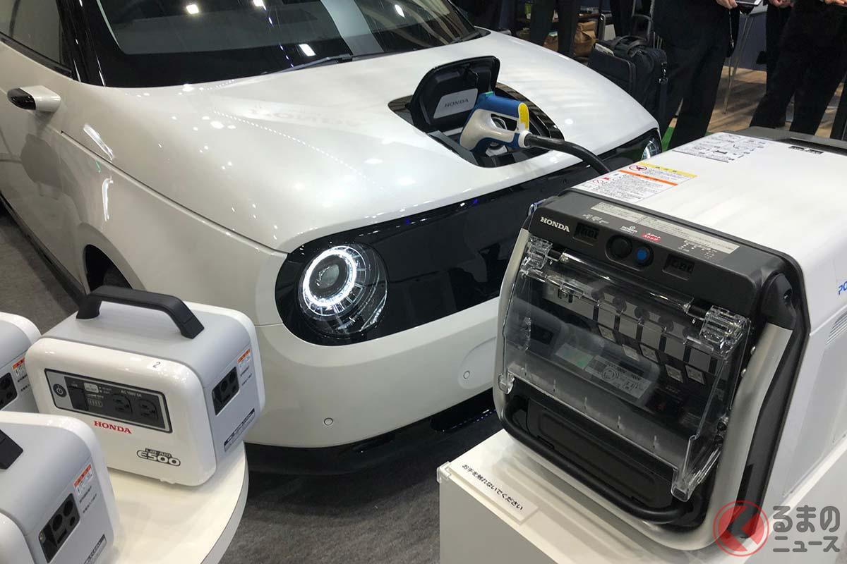 EVから電気を取り出して持ち運ぶことでさまざまな電源として使える