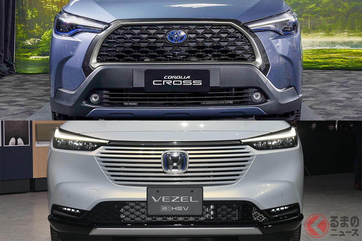 登場が待ち望まれるトヨタ「カローラクロス」。ユーザーはホンダ新型「ヴェゼル」をライバルに挙げる人が多い