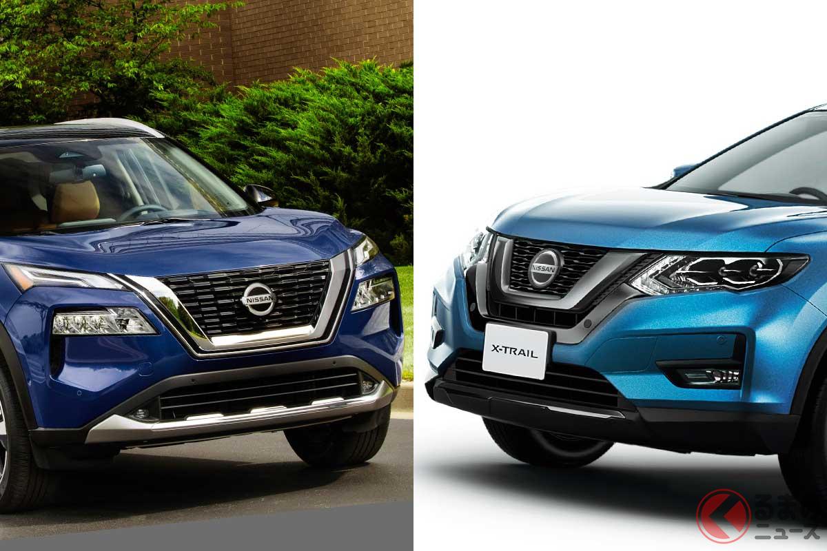 左:北米で先行発売された新型「ローグ」/右:日産「エクストレイル」