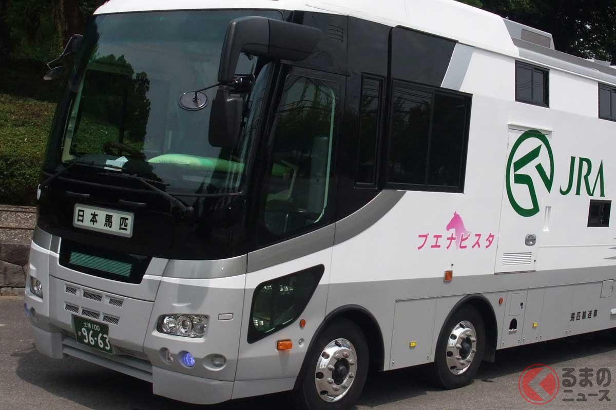 競走馬を安全に輸送する「馬運車」(画像提供:日本馬匹輸送自動車株式会社)