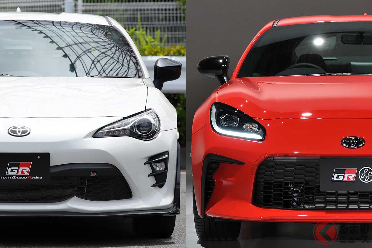 左:トヨタ初代「86」/右:トヨタ新型「GR86」