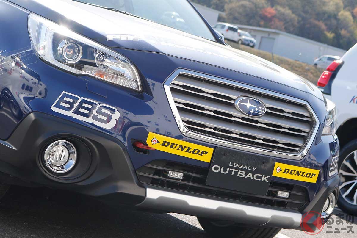 3.6リッター水平対向6気筒エンジンを搭載したスバル「アウトバック」のFRO車両(画像:SUPER GT SQUARE)