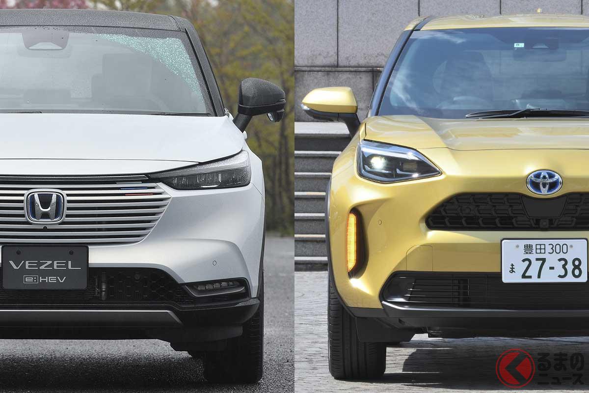 左:ホンダ新型「ヴェゼル」/右:トヨタ「ヤリスクロス」