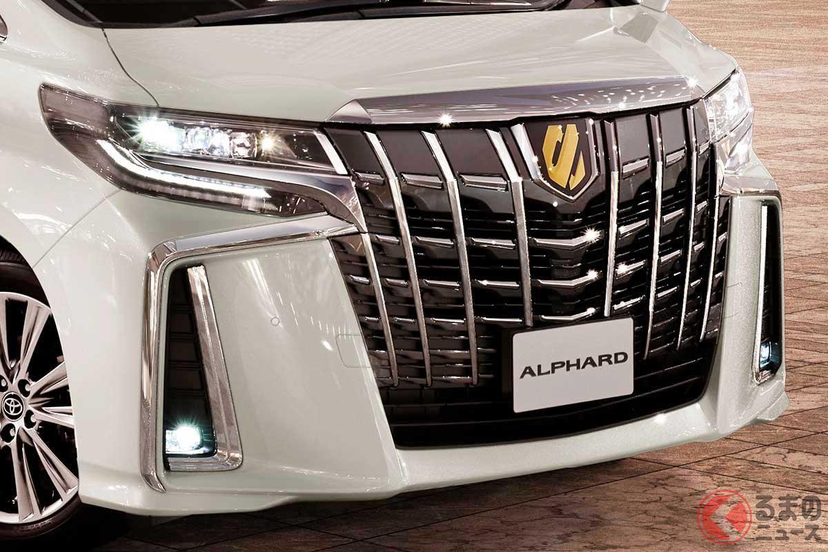 ミニバンでもっとも売れているトヨタ「アルファード」