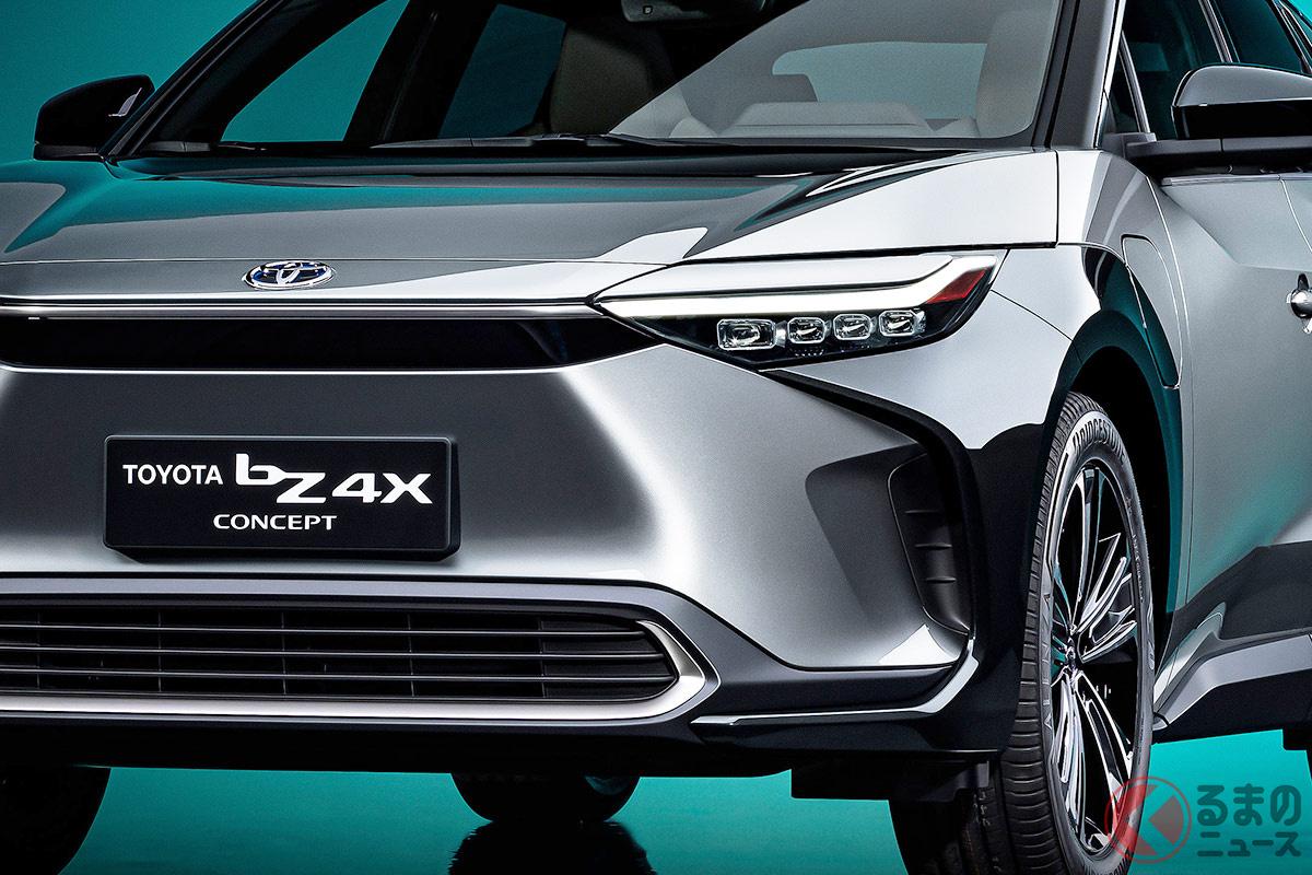 トヨタが上海モーターショー2021にて世界初公開したSUVタイプの新型EV「bZ4X(トヨタ ビーズィーフォーエックス)」