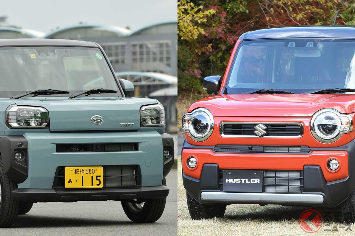 軽SUVのダイハツ「タフト」とスズキ「ハスラー」