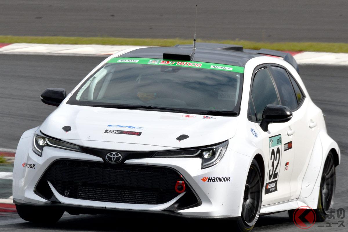 開発中の水素エンジンを搭載する「カローラスポーツ」ベースのレーシングカー