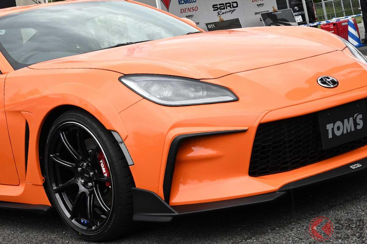 オレンジが目を引くTOM'S 新型「GR86」